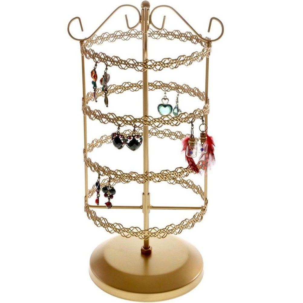 Porte bijoux manège à boucles d'oreilles delicatesse doré