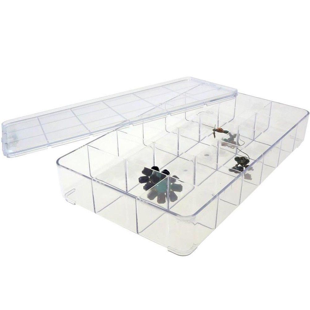 Coffrets et boites boite de rangement 29x16,5x5 cm (18 compartments) transparent (photo)