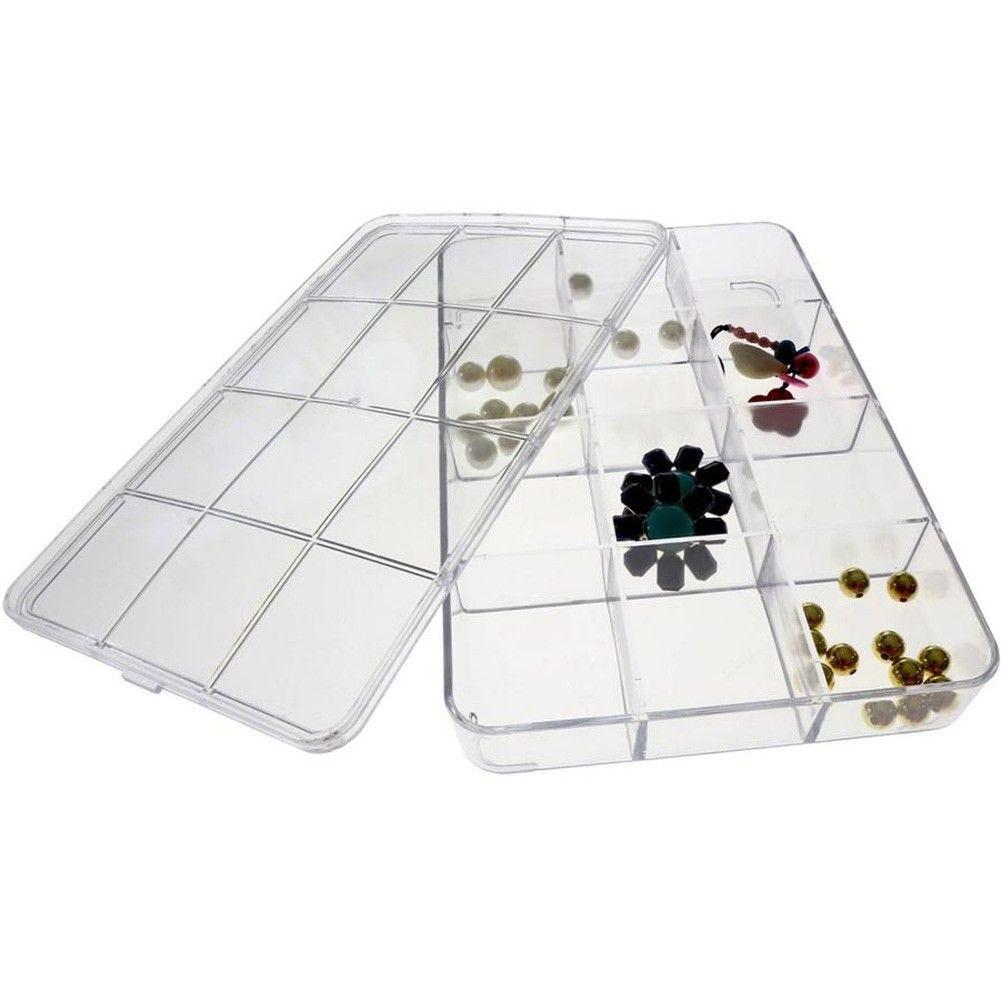 Coffrets et boites boite de rangement 23x15 cm (12 compartiments) transparent (photo)
