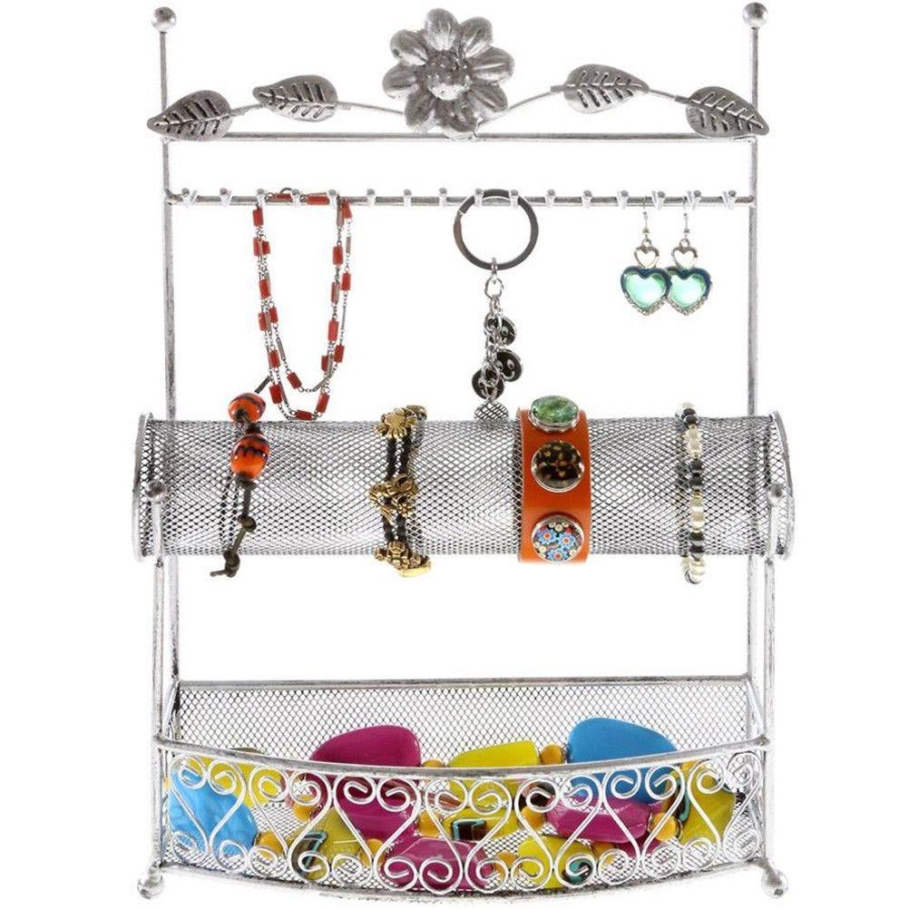 Porte bijoux hilda avec panier et jonc pour bijoux gris patiné