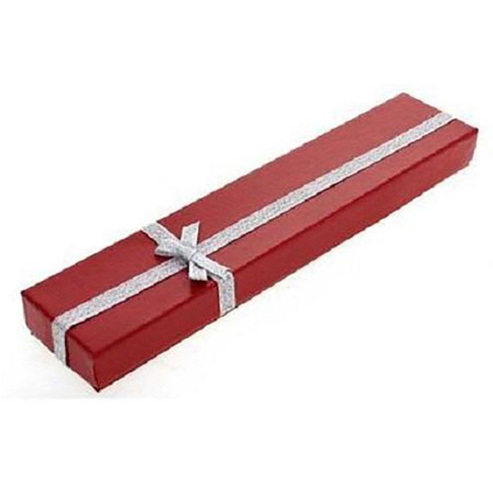 Emballages ecrin pour bracelet avec noeud 4 x 20 cm rouge - par 12 (photo)