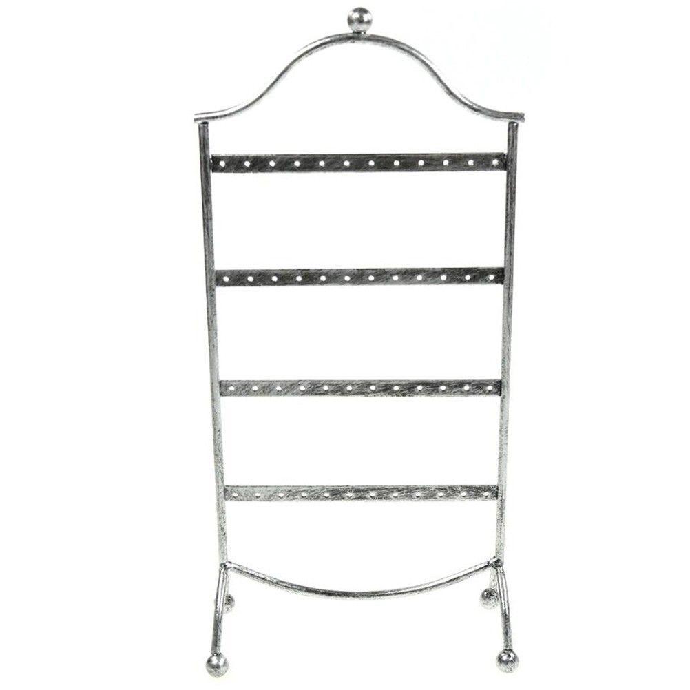 Porte bijoux cadre présentoir boucle d'oreille door (24 paires) gris patiné (photo)