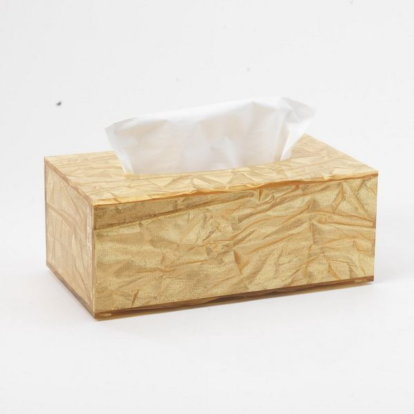 Boîte à mouchoirs old gold 24,5x13,5cm h7 platex (photo)