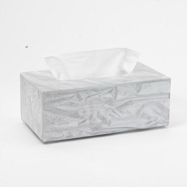 Boîte à mouchoirs old silver 24,5x13,5cm h7 platex (photo)