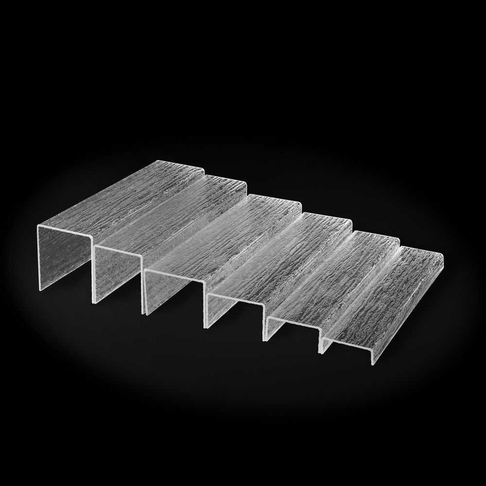 Escalier acrylic pack 6 marches glace platex (photo)