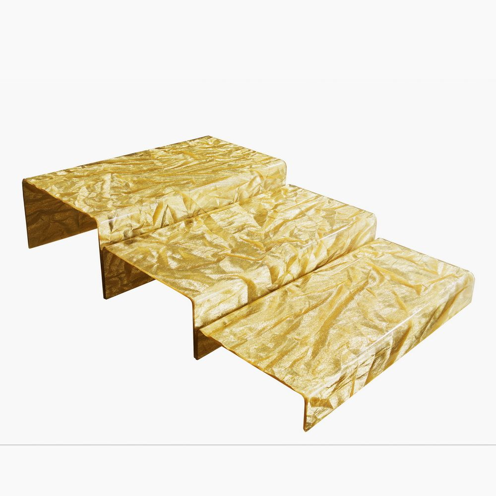 Escalier acrylic pack 3 marches old gold platex (photo)
