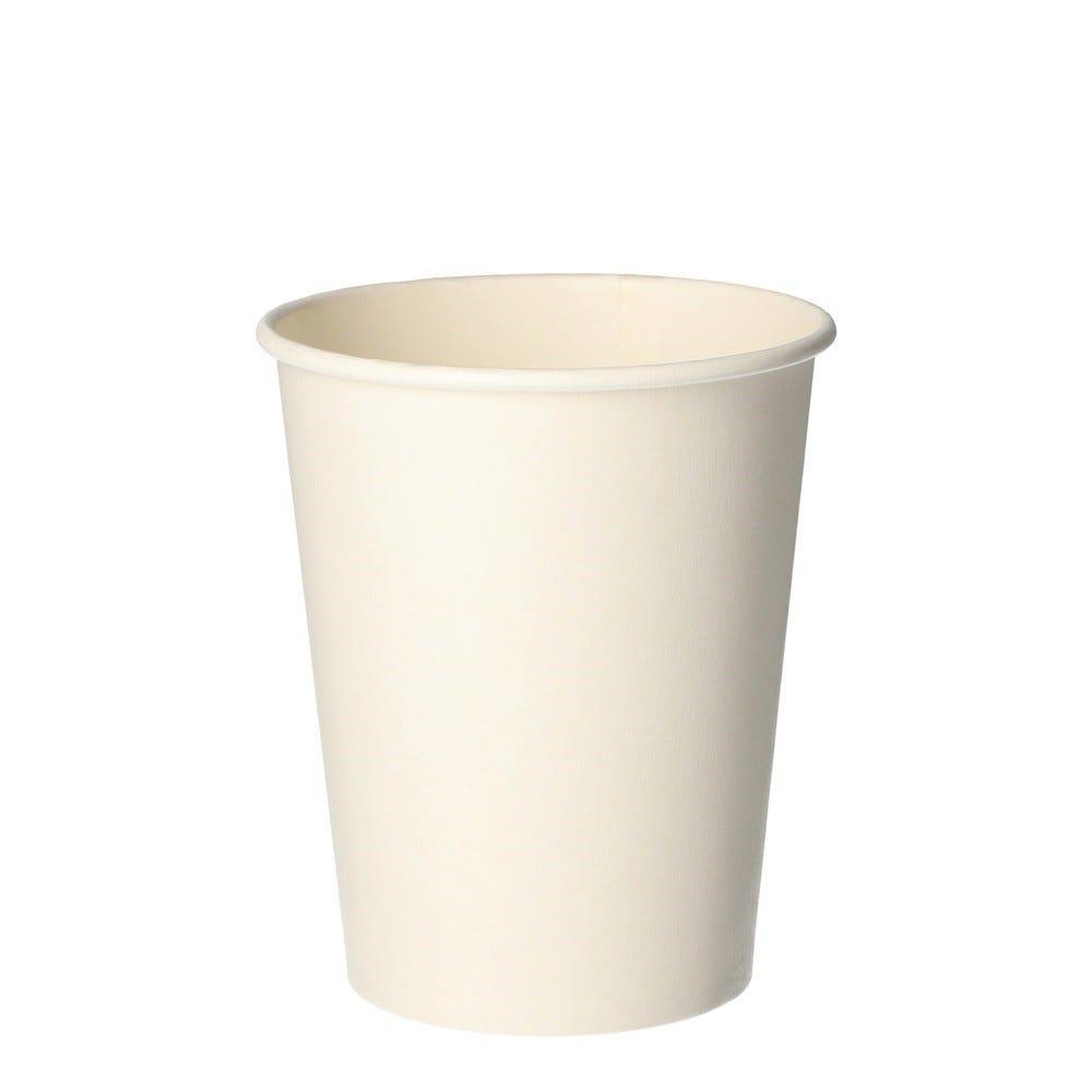 Gobelets, carton pure 0,2 l Ø 8 cm · 9,2 cm blanc - par 1000