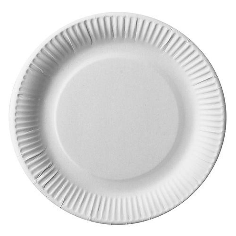 Assiettes, carton pure rond Ø 23 cm blanc - par 200
