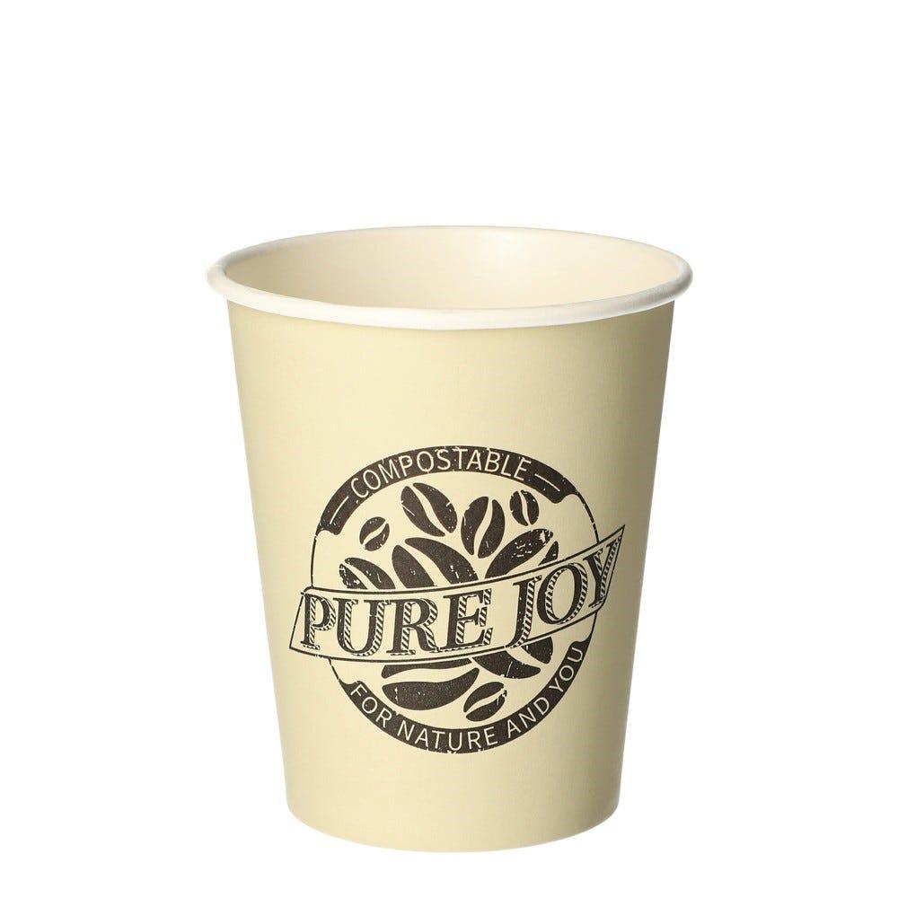 Gobelets, carton pure 0,2 l Ø 8 cm · 9,2 cm crème Pure Joy - par 1000