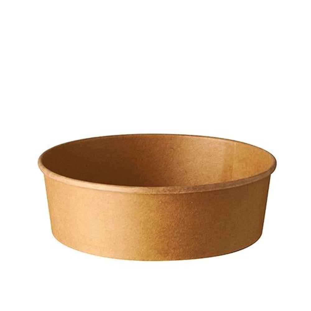 Saladiers, carton rond 500 ml Ø 15 cm · 4,6 cm marron - par 300