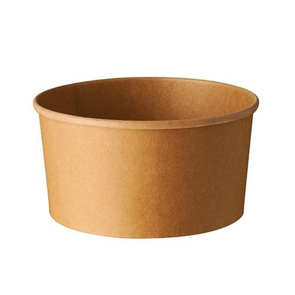 Saladiers, carton rond 1000 ml Ø 15 cm · 7,5 cm marron - par 300
