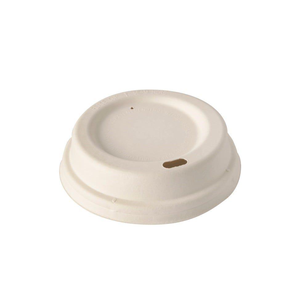 Couvercles dome en sucre de Canne pure rond Ø 8 cm · 2,5 cm blanc - par 1000
