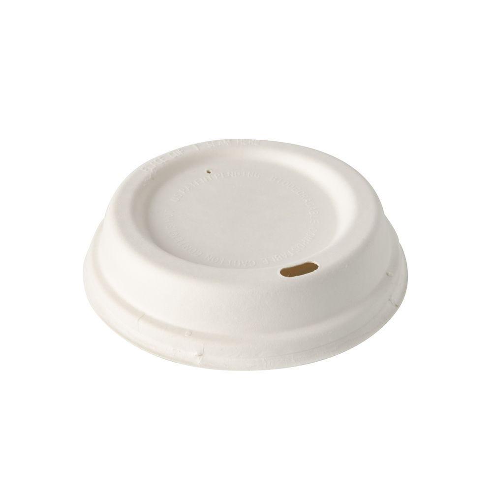 Couvercles dome en sucre de Canne pure rond Ø 9 cm · 2,5 cm blanc - par 1000