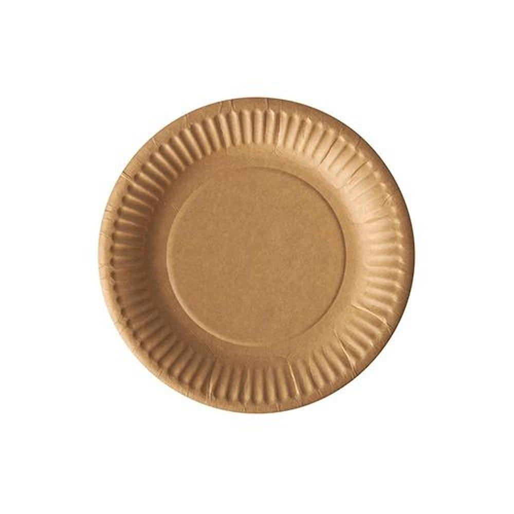 Assiettes, carton pure rond Ø 15 cm marron - par 2000