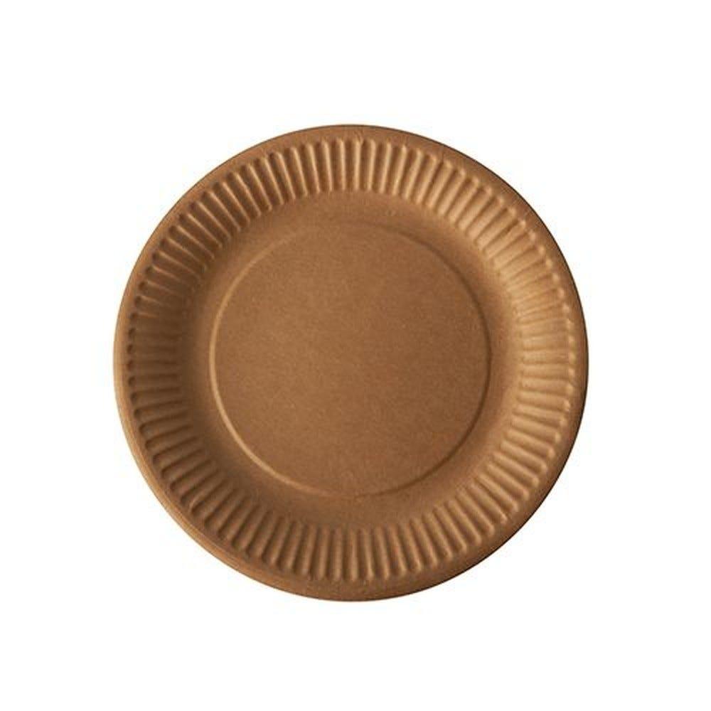 Assiettes, carton pure rond Ø 19 cm marron - par 800