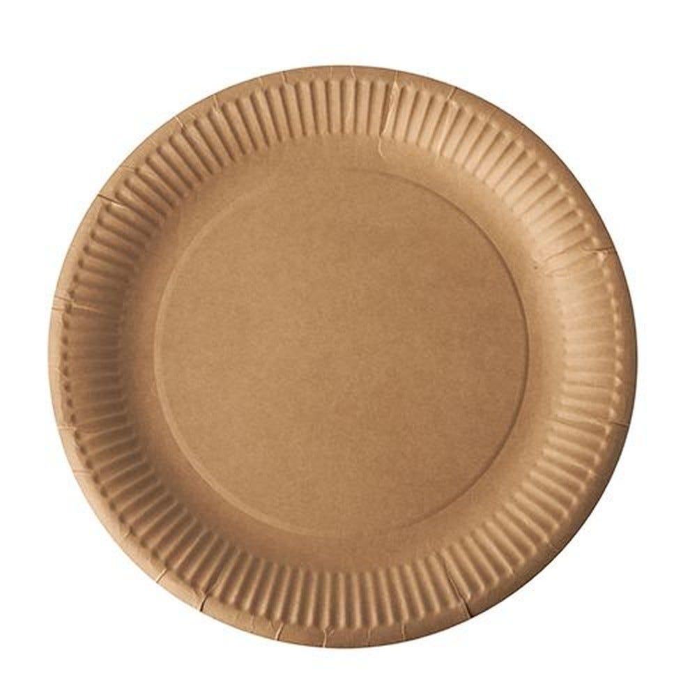 Assiettes, carton pure rond Ø 23 cm marron - par 500