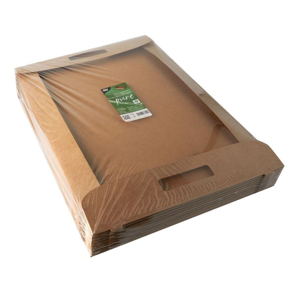 Plateaux, carton pure 4,5 cm x 54,4 cm x 36,6 cm marron 100% Fair - par 60
