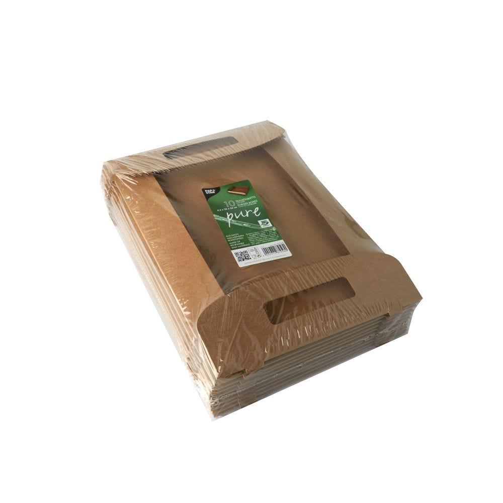 Plateaux, carton pure 4,5 cm x 35 cm x 24 cm marron 100% Fair - par 10