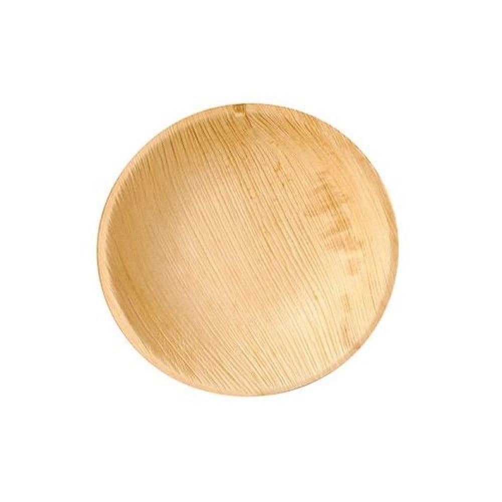 Assiettes, Feuille de palmier pure rond Ø 18,5 cm · 2,5 cm - par 25