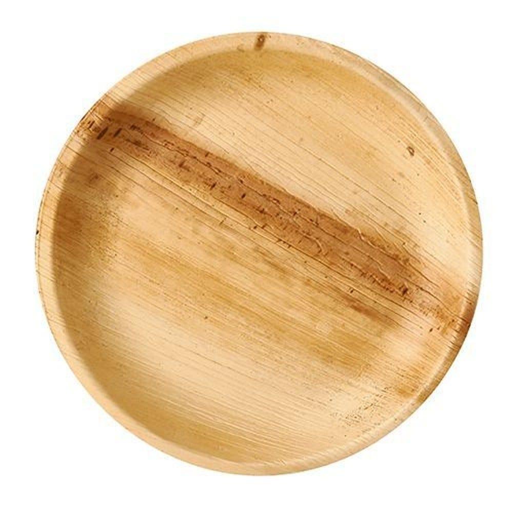 Assiettes, Feuille de palmier pure rond Ø 23 cm · 2,5 cm - par 25