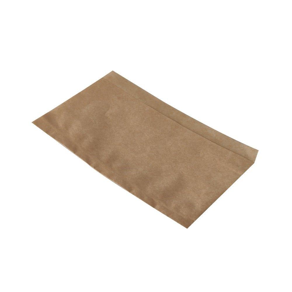 Sachets à hot dog pure 18 cm x 11 cm marron résistant à la graisse - par 1000