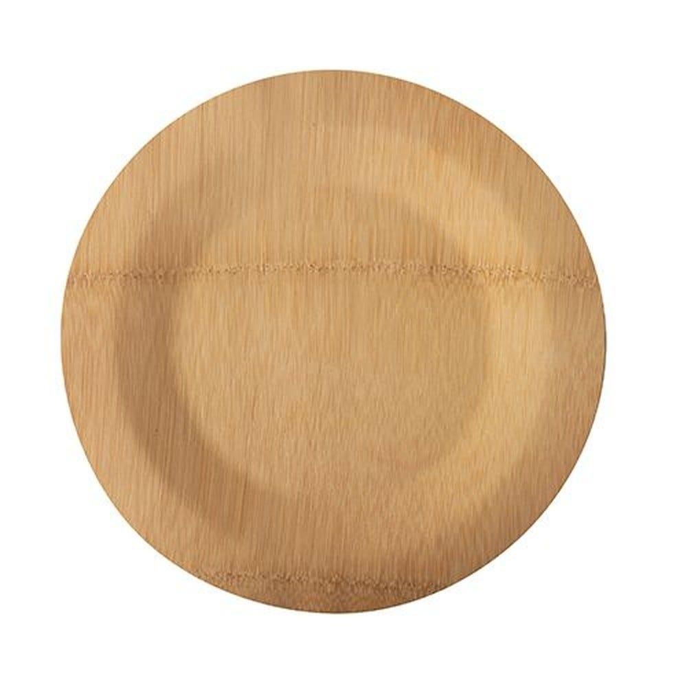 Assiettes, fait en bambou pure sans compartiments Ø 23 cm · 1,5 cm - par 250