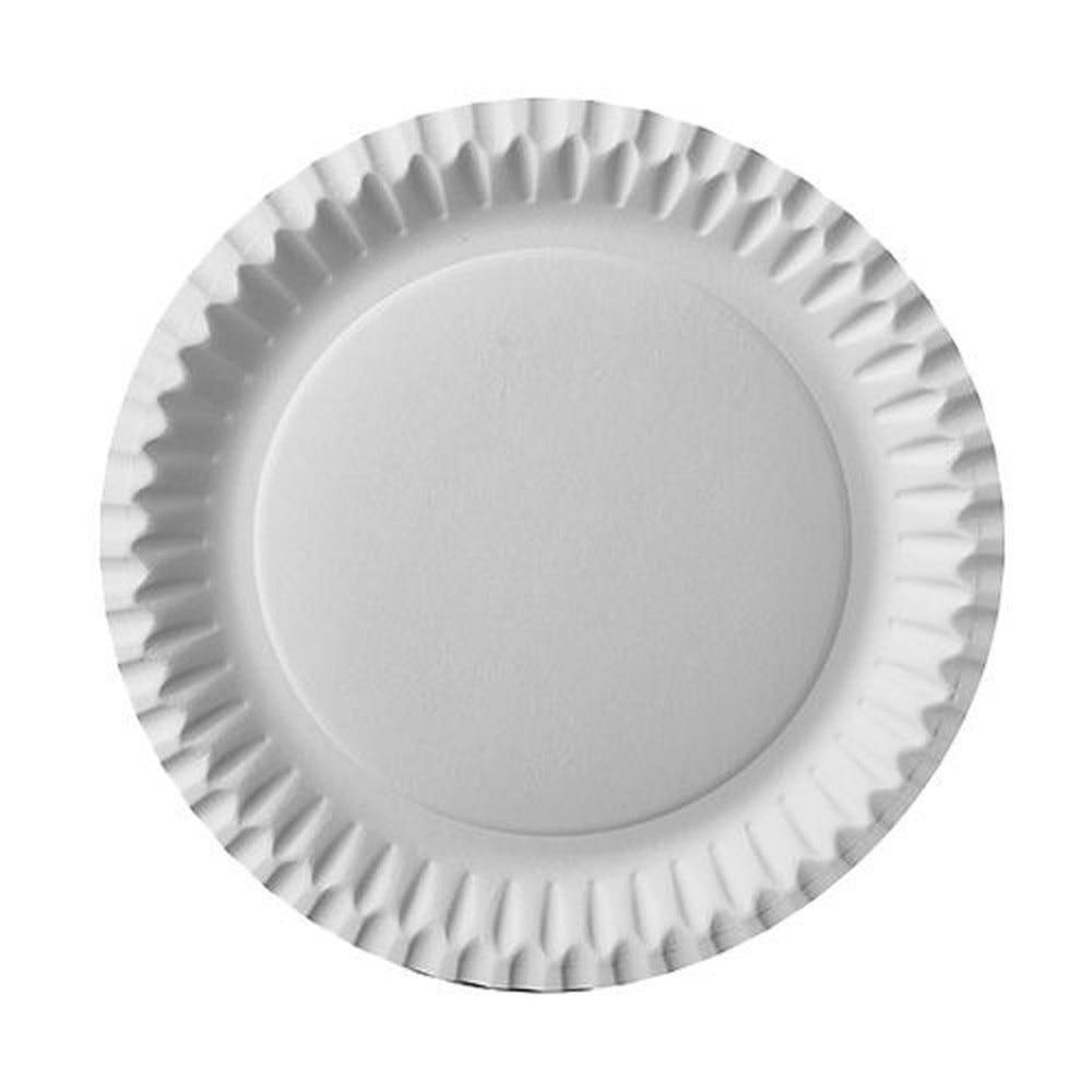 Assiettes, carton rond Ø 23 cm blanc - par 600