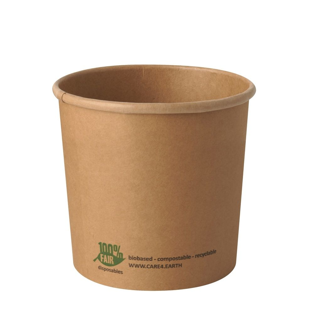 Terrines à soupe, carton 'pure' rond 760 ml Ø 11,5 cm · 11 cm marron - par 500