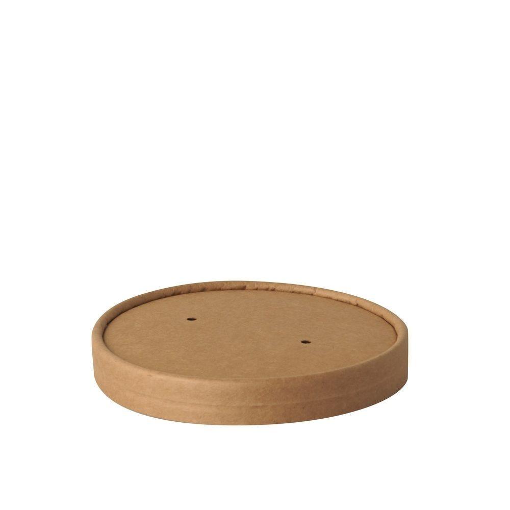 Couvercle terrines à soupe, cartón 'pure' rond Ø 11,5 cm · 1,6 cm marron par 500