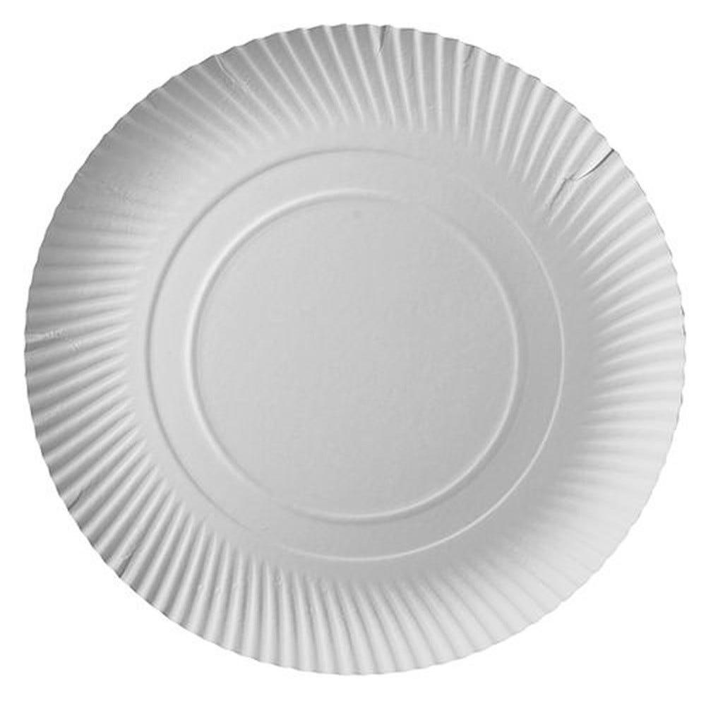 Assiettes en carton blanc PURE Ø 32 cm par 200