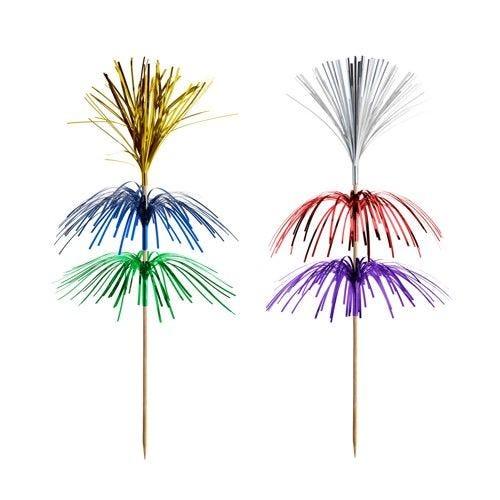 Pique décoratif 18 cm couleurs assorties ''Fireworks'' 3 plis par 1000