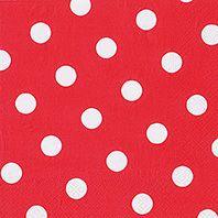 Serviette 3 plis pliage 1/4 40 cm x 40 cm rouge ''Dots'' par 200