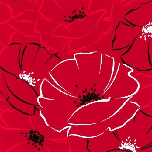 Serviette 3 plis pliage 1/4 40 cm x 40 cm ''Red Passion'' par 200