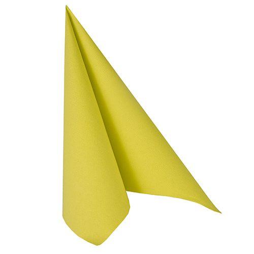 Serviette ''ROYAL Collection'' pliage 1/4 40 cm x 40 cm vert anis par 250
