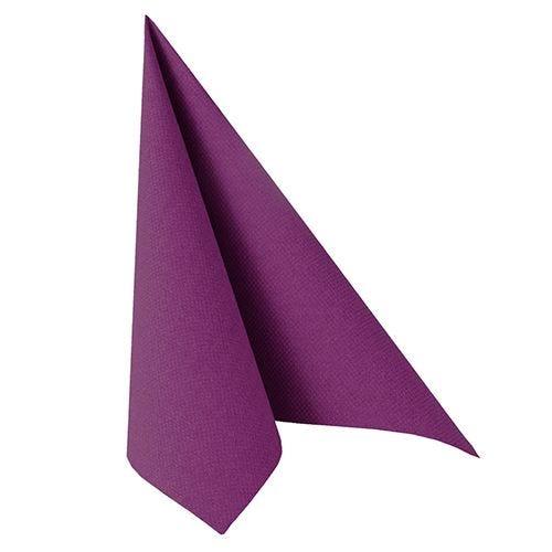 Serviette ''ROYAL Collection'' pliage 1/4 40 cm x 40 cm violet par 250