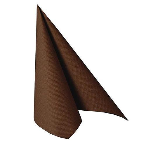 Serviette ''ROYAL Collection'' pliage 1/4 40 cm x 40 cm marron par 250