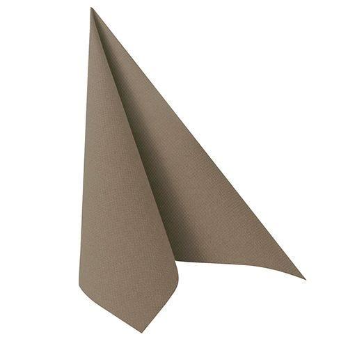 Serviette ''ROYAL Collection'' pliage 1/4 40 cm x 40 cm gris par 250