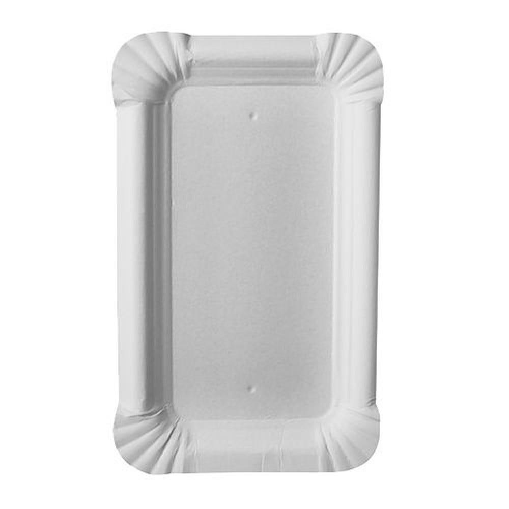 Assiette en carton ''pure'' rectangulaire 9 cm x 15 cm blanc par 2000