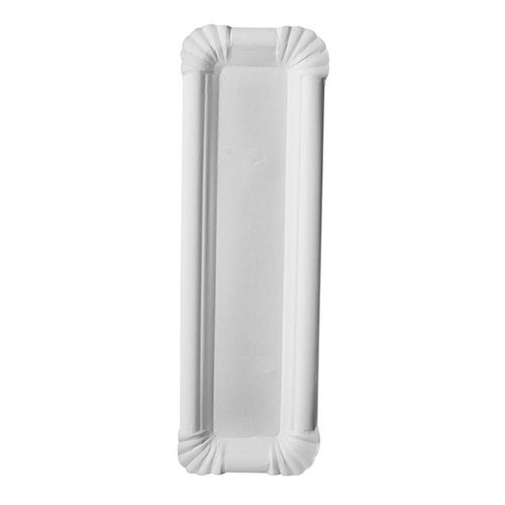 Assiette en carton ''pure'' rectangulaire 6,5 cm x 22 cm blanc par 1000