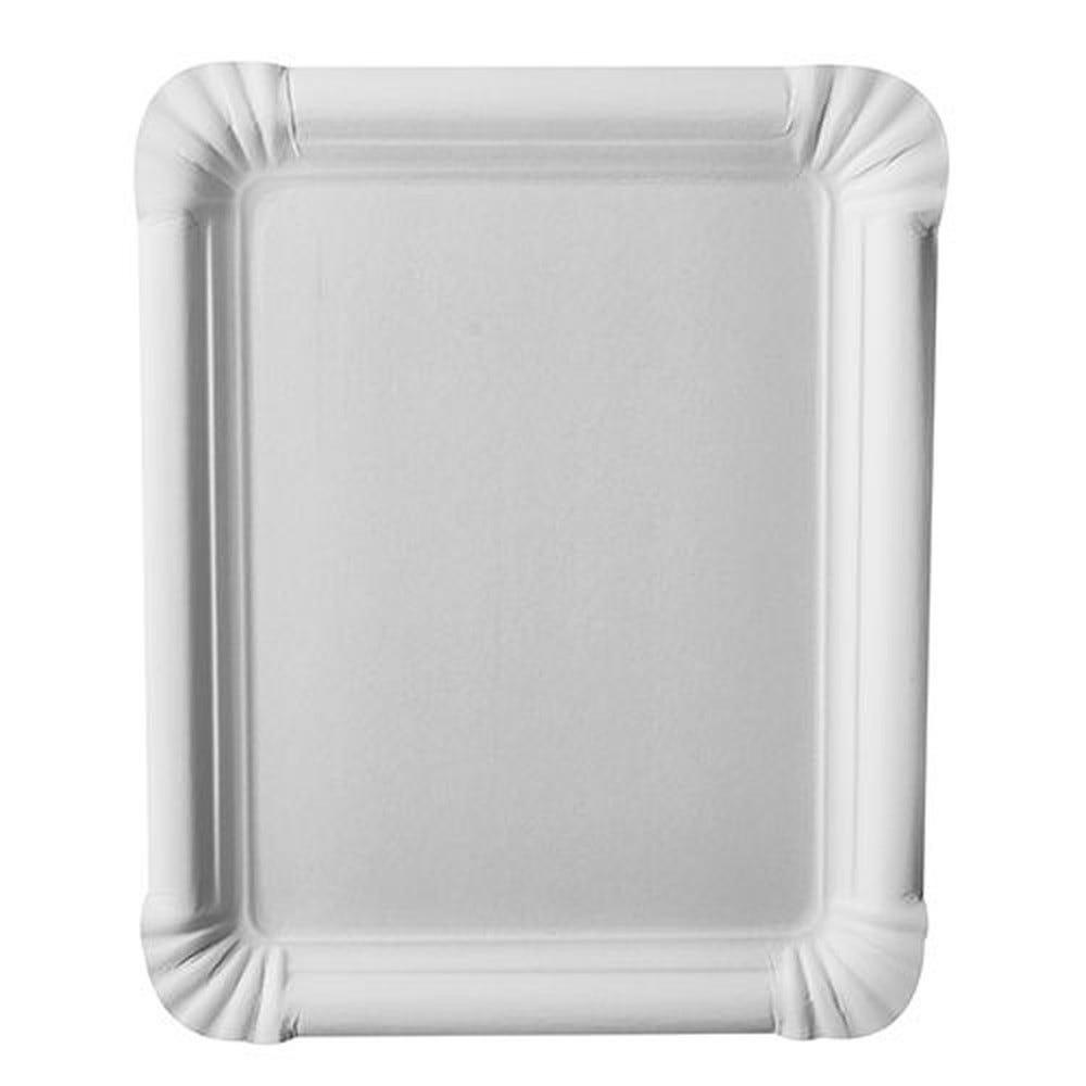 Assiette en carton ''pure'' rectangulaire 16,5 cm x 20 cm blanc par 500