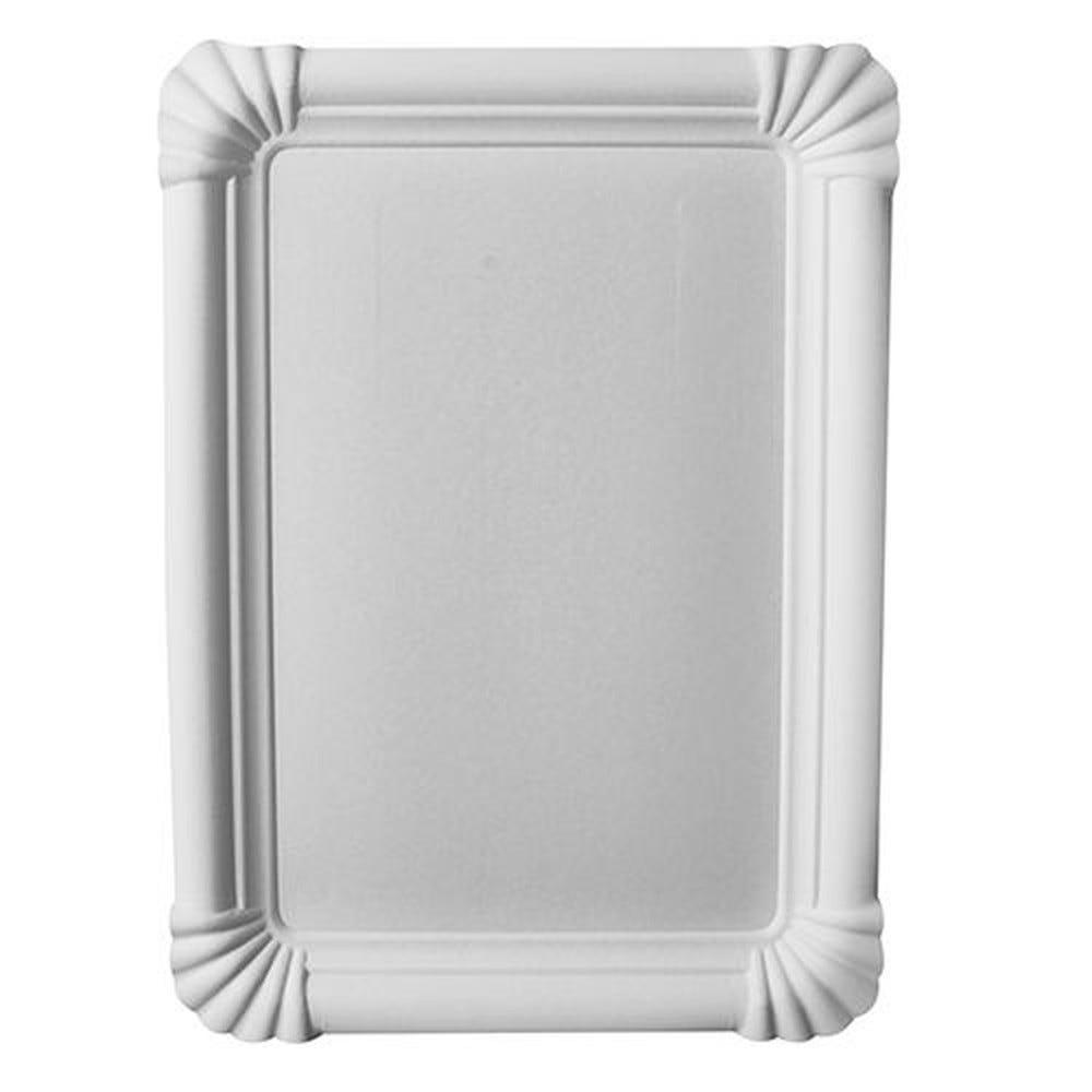 Assiette en carton ''pure'' rectangulaire 16,5 cm x 23 cm blanc par 500