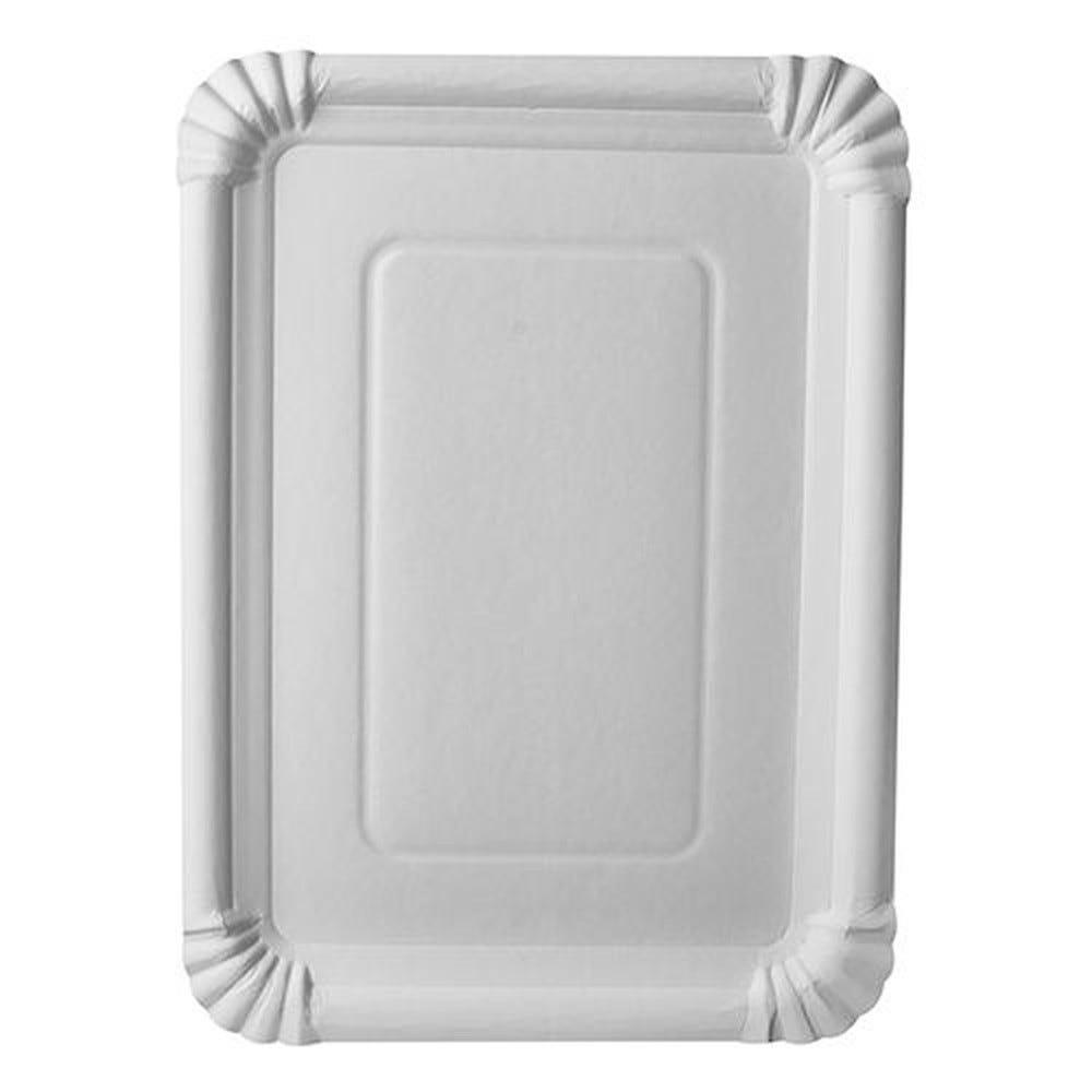Assiette en carton ''pure'' rectangulaire 21,5 cm x 29 cm blanc par 250