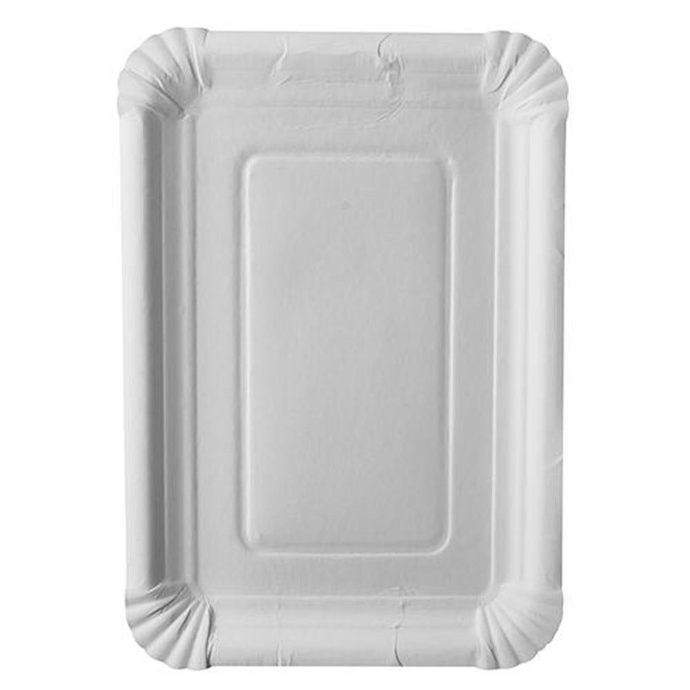 Assiette en carton ''pure'' rectangulaire 18 cm x 26 cm blanc par 500