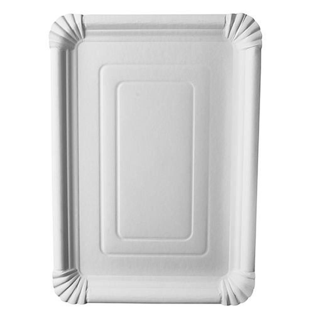 Assiette en carton ''pure'' rectangulaire 24 cm x 33 cm blanc par 250