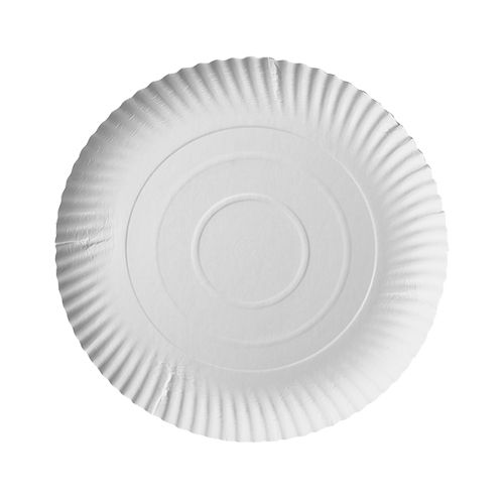 Assiette en carton ''pure'' ronde Ø 24 cm · 2 cm blanc par 200