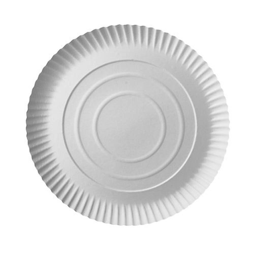 Assiette en carton ''pure'' ronde Ø 26 cm · 2 cm blanc par 200