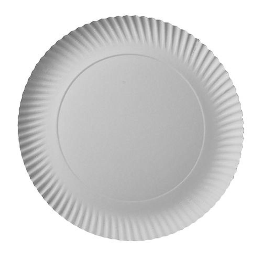 Assiette en carton ''pure'' ronde Ø 29 cm · 2 cm blanc par 200