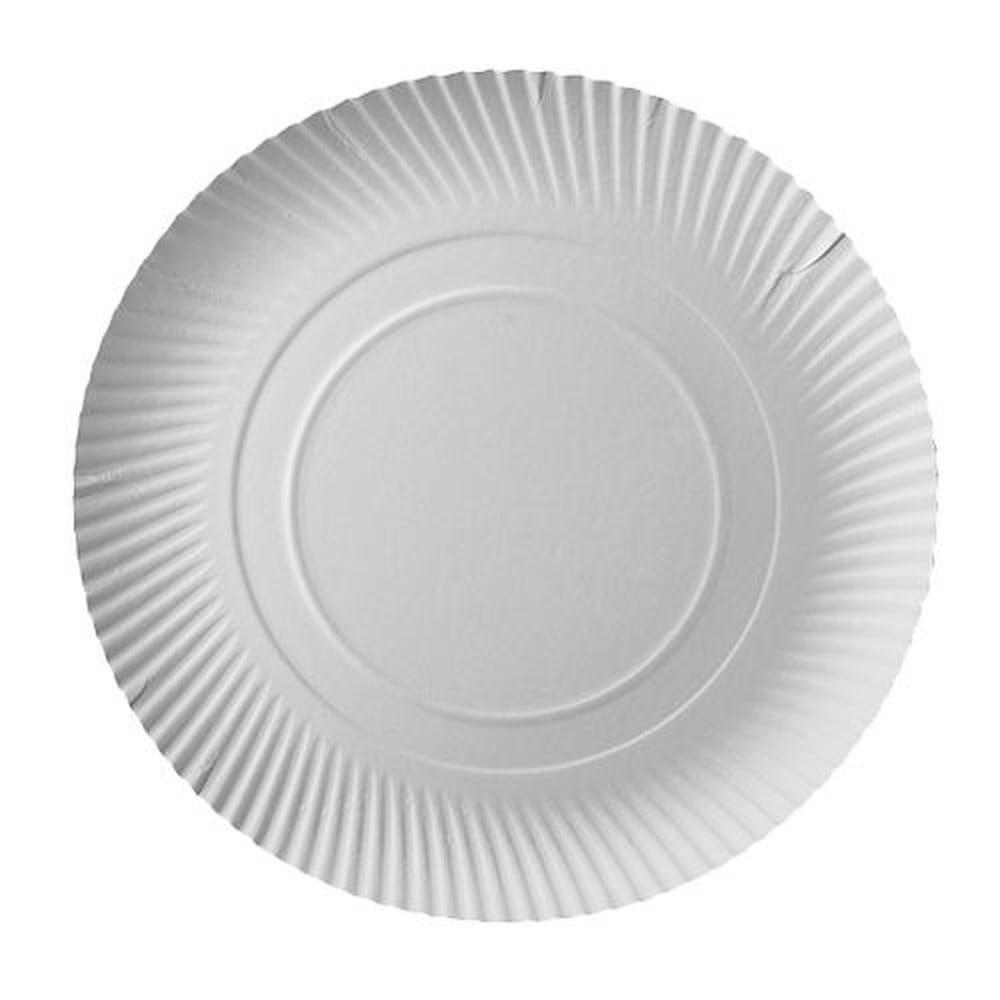 Assiette en carton ''pure'' ronde Ø 32 cm · 2 cm blanc par 200