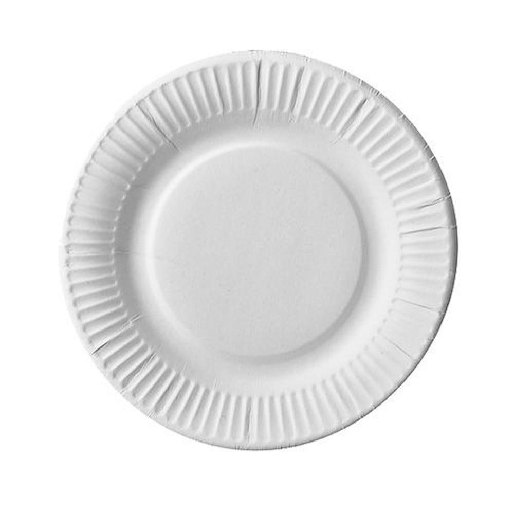 Assiette en carton ''pure'' ronde Ø 19 cm blanc extra fort par 500