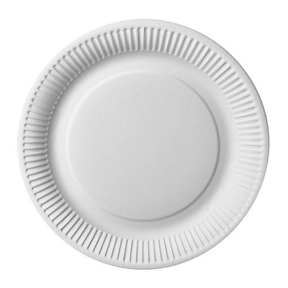 Assiette en carton ''pure'' ronde Ø 26 cm blanc extra fort par 500